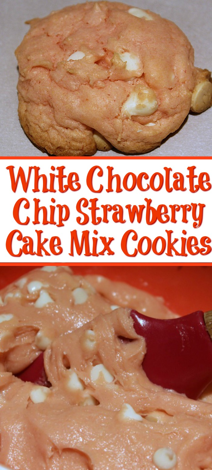 These White Chocolate Chip Strawberry Cake Mix Cookies Recipe are perfect for beginner bakers and kids! With only four ingredients they make a tasty treat!