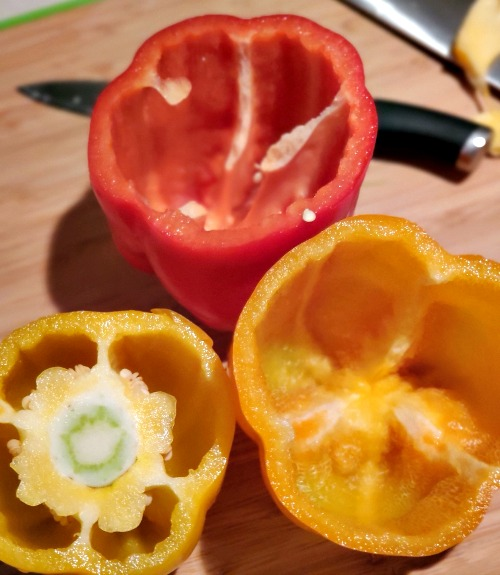 This Italian Stuffed Peppers Recipe is the perfect healthy dinner to make! Use your favorite spices with cheese, chicken, and rice to stuff make these.