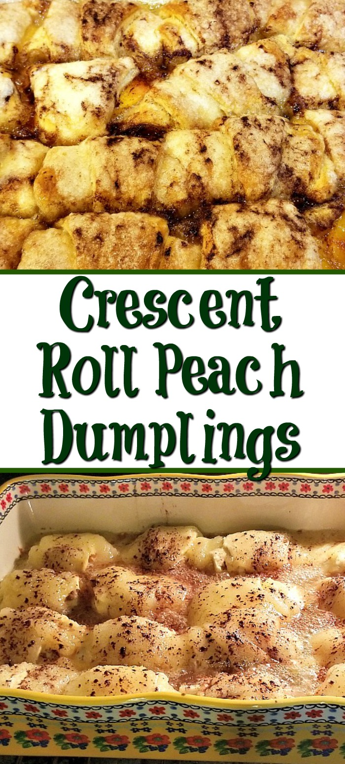 This Crescent Roll Peach Dumplings Recipe is sure to be a family hit and is so easy to make! With Sprite in the recipe to give it an extra sweet taste!