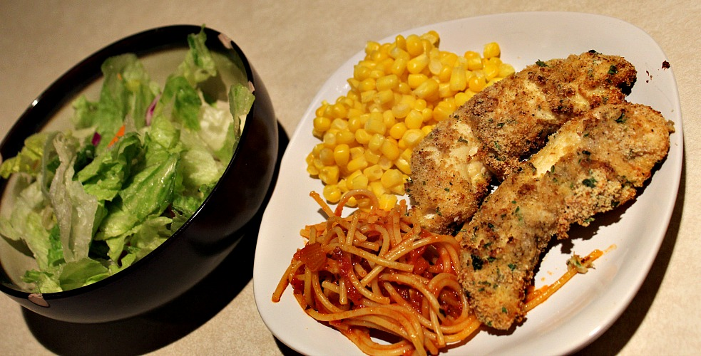 Air Fryer Chicken Parmesan Recipe is such an easy weeknight dinner to make! Use the air fryer to avoid grease and not heat up your house as well!