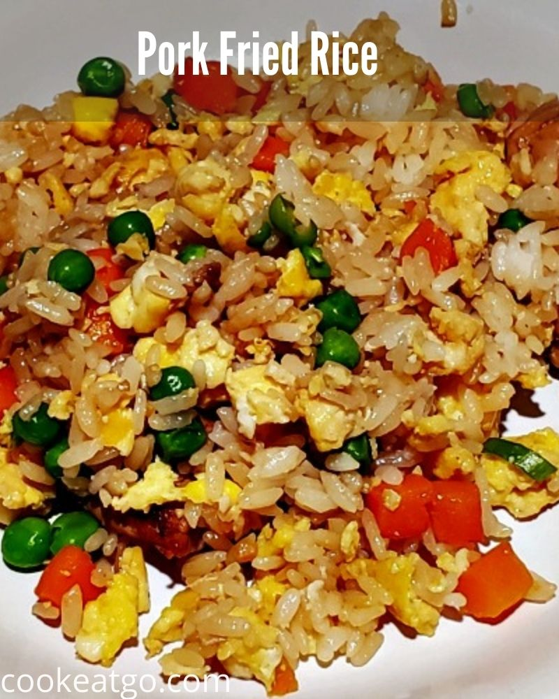 This Pork Fried Rice is so easy to make for a quick weeknight dinner full of protein and veggies! Better than takeout!
