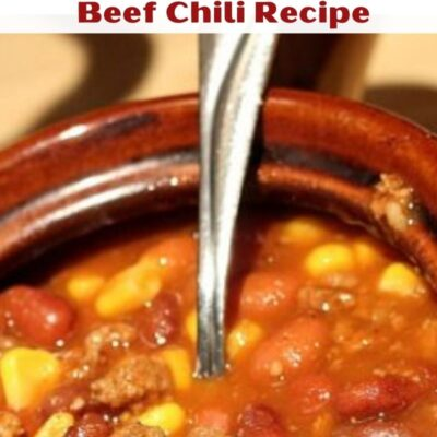 This Dutch oven Beef Chili is a huge hit with the whole family!! Just dump everything in and cook on low for a cozy comfort dinner.