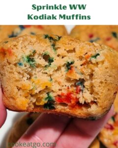 This Sprinkle WW Kodiak Muffins Recipe is perfect for an easy muffin breakfast or a sweet treat without using too many Smartpoints! Easy to make and filling! You can change up the flavor muffins easily and they won't even taste like they are meant to be low point!