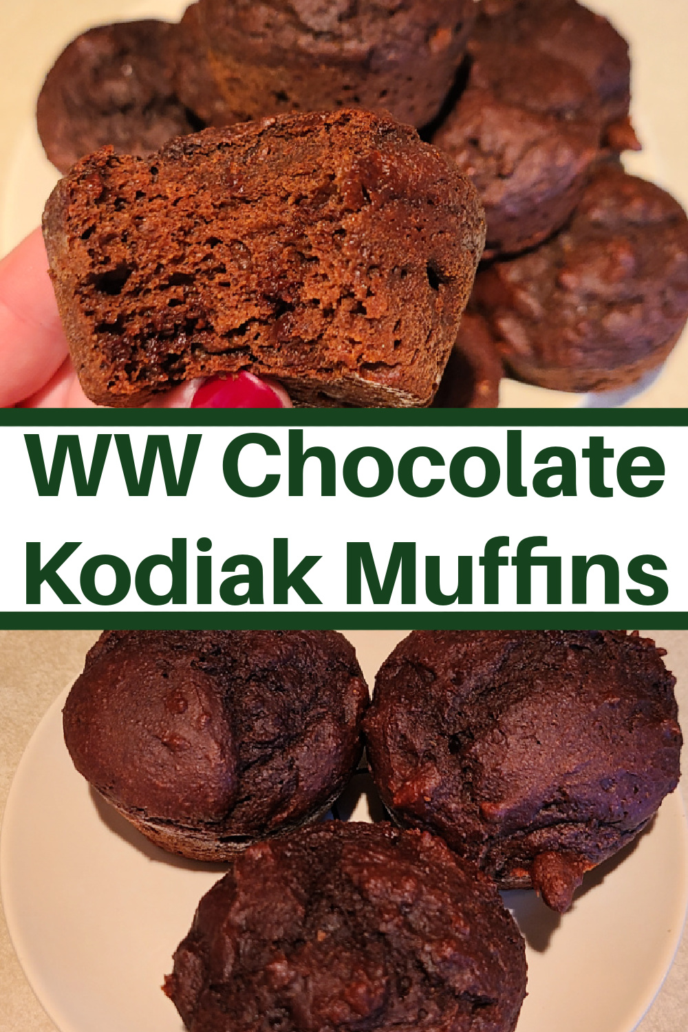 These WW Chocolate Kodiak Muffins are perfect for any of the WW Smartpoint plans! They work out to 2 Smartpoints on all three of the MyWW plans, MyWW blue, MyWW Green, and MyWW Purple. Use the Kodiak Chocolate Chip power cakes and add cocoa to make these tasty treats!