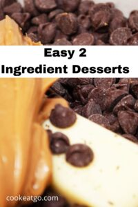 These Easy 2 Ingredients Dessert Recipes are perfect for the holidays, kids to make, or for pot luck get-togethers!! Either no-bake or bake they tasty! Fudge is so easy to make with just two ingredients. Angel food cake also pairs well with pie filling for a tasty light treat!